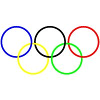 Olympic rings (curve plotting, parameters depend on data)